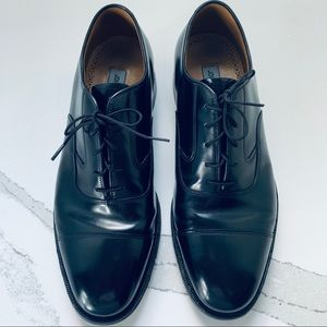 Johnston&Murphy Oxford CapToe Black Dress Shoes 8D